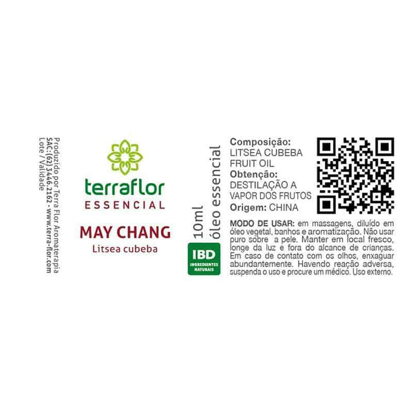 OLEO ESSENCIAL OLEO ESSENCIAL MAY CHANG TERRAFLOR 10ML