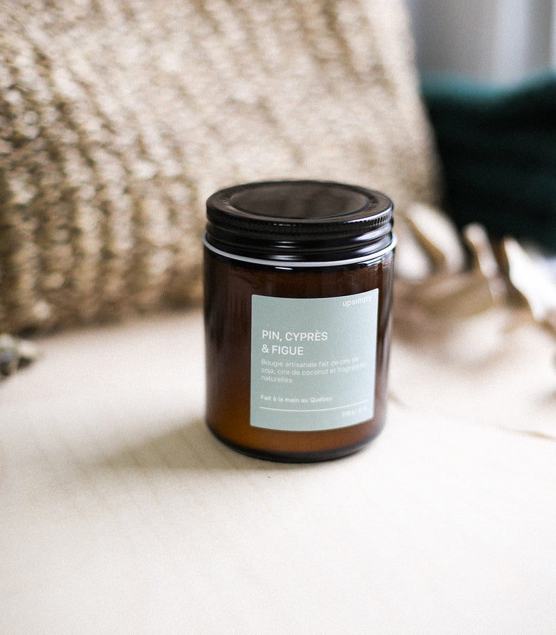 Soy Candle - Pine, Cypress - Fig