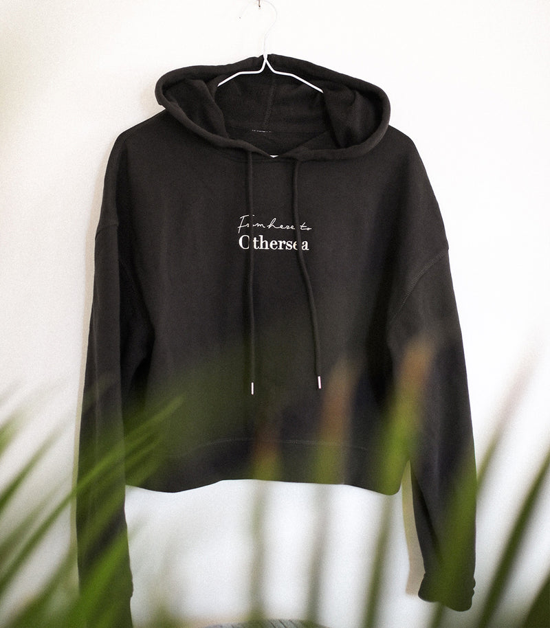 Hoodie Croptop - FROM HERE TO OTHERSEA - Charcoal