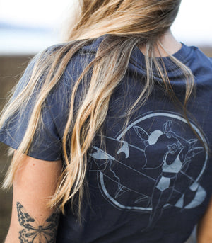 T-shirt « SURF LADY » - Marin