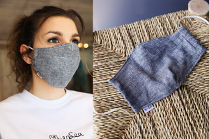Reusable FACE MASK - Hemp & Tencel