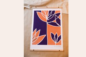 ORANGE AND PURPLE WILDFLOWERS - Affiche
