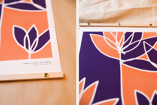 ORANGE AND PURPLE WILDFLOWERS - Print