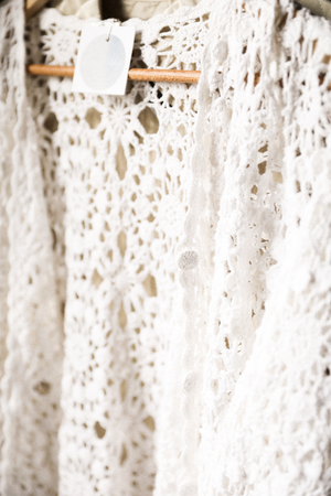 White Knitting Lace - Long