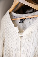 White Soft Knit Sweater
