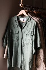 Silk Green Shirt