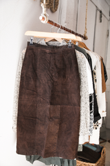 Midi Suede Skirt