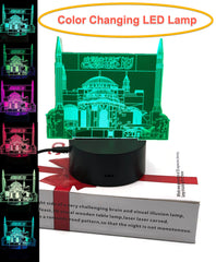 3D LED Optical Illusion Lamp with USB 7 Color Changing Light with Smart Touch Bedside Lamps Birthday Gifts [New Arrival]