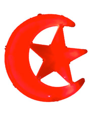 "iHcrafts Wall Hanging Ramadan Islamic Moon Star Light Muslim Decor Party Supply Ramadan Party Decoration 12"" (Red)"