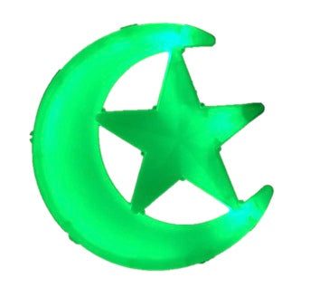 "iHcrafts Wall Hanging Ramadan Islamic Moon Star Light Muslim Decor Party Supply Ramadan Party Decoration 12"" (Green) [New Arrival]"