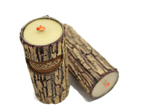 "Surah Al-Rehman (Fabi-Ayyi Ala..) Wood Trunk Like Candle Islamic Decor ""Fabi-Ayyi Ala-i Rabbikuma Tukaththiban"" Chapter 55 Verse 13 - 8"" (New Arrival)"
