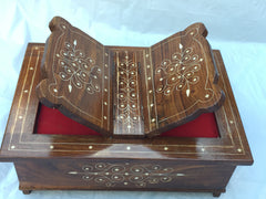 "Prayer Book Box Quran Holder Religious Book Easle Hand crafted 14""x9"""