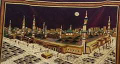Al Haram Medina on Cloth Wall Hanging Fabric Decor - Large