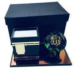 "Excellent Ramadan Eid Gift Al Kaaba and Allah on a Diamond (Large) 8.25"" x 4.5"" x 4.5"""