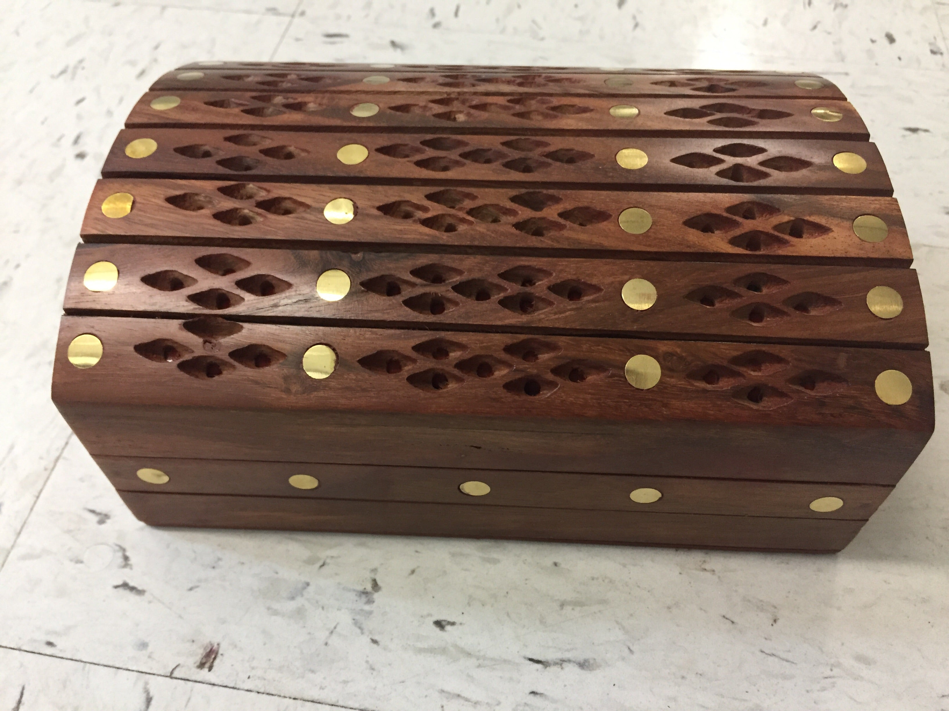 Girls 3 In 1 Jewelry Box Single Compartment Solid Wooden Floral Design Islamichandicrafts Com