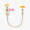 AnyLink cable - Gold / 15cm / No adapter