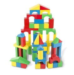 100 Piece Wood Blocks Set|Ensemble de 100 blocs colorés en bois