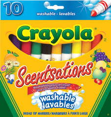 10 Washable Broad Tip Scented Markers|10 marqueurs parfumés lavables à pointe large
