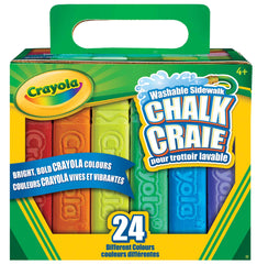 24 Washable Sidewalk Chalks|24 craies lavables pour trottoir