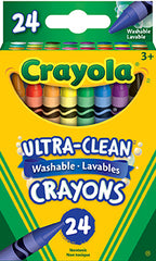 24 Ultra-Clean Washable Crayons|24 crayons de cire lavables Ultra-Clean