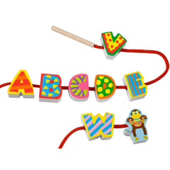 String my ABC's|Alphabet en bois à enfiler