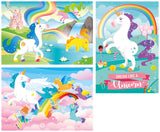 I Believe in Unicorns - 3x48 pieces - Supercolor Puzzle|Casse-têtes colorés licornes - 3 X 48 pièces