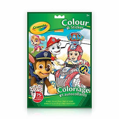 Colour & Sticker - Paw Patrol|Coloriage et autocollants - Paw Patrol