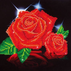 Intermediate Diamond Dotz - Red Rose Sparkle|Peinture diamant Diamond Dotz intermédiaire - Roses rouges