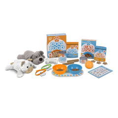 Feed & Play Pet Treats Play Set|Ensemble de nourriture et de jouets pour animaux en peluche