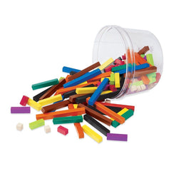Plastic Cuisenaire® Rods Small Group Set|Ensemble de 155 réglettes en plastique