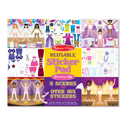 Reusable Sticker Pad - Dress-Up|Autocollants repositionnables - habillement