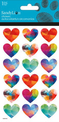 Faceted Hearts - Prismatic|Autocollants coeurs colorés brillants