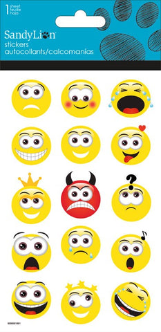 Yellow Emoticon stickers|Autocollants émoticones