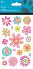 Flower stickers with glitter|Autocollants fleurs avec brillants
