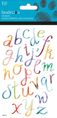 Colorful Script stickers|Autocollants alphabet script