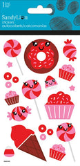 Cute Candy stickers with glitter|Autocollants bonbons avec brillants