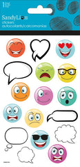 Emoticons and Bubbles stickers|Autocollants émoticones et bulles