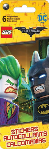 Lego Batman Sticker Flip Pack|6 feuilles d'autocollants uniques Lego Batman