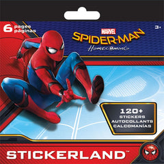 Mini Stickerland Pad - 120 Spiderman Homecoming stickers|120 autocollants Spiderman Homecoming