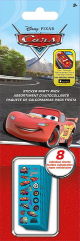 Cars Sticker Party Pack|8 feuilles d'autocollants Les bagnoles
