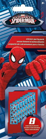 Spiderman Sticker Party Pack|8 feuilles d'autocollants Spiderman