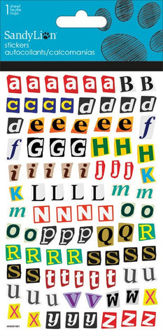 Alphabet stickers|Autocollants alphabet
