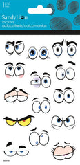 Cartoon eyes stickers|Autocollants yeux de dessins animés