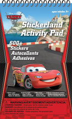 Cars Stickerland Activity Pad|Tablette d'autocollants et activités Cars