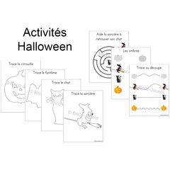 Digital download - Halloween activities|Fichier téléchargeable - Activités Halloween