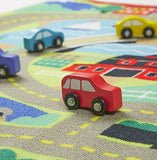 Round the Town Road Rug & Car Set|Ensemble de tapis de jeu d'autos