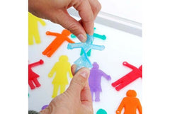 36 SiliShapes Linking People|Ensemble de 36 personnages en silicone colorés