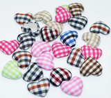 Heart embellishments covered with fabric|Embellissements coeurs recouverts de tissu