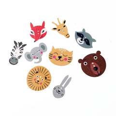 Animals buttons|Boutons animaux