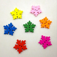 Small snowflake buttons|Boutons petits flocons